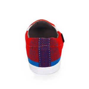 Xibany Original Canvas Slip-On Sneaker, Kids: Red|Blue