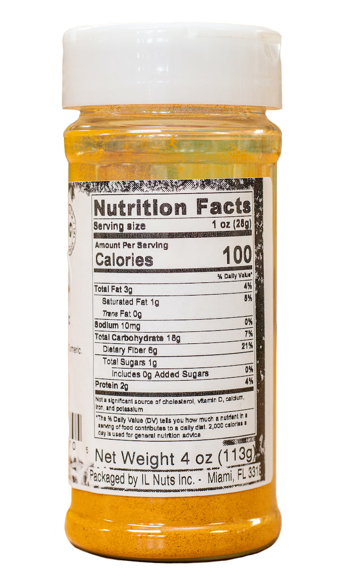 Tumeric Nutrition Facts