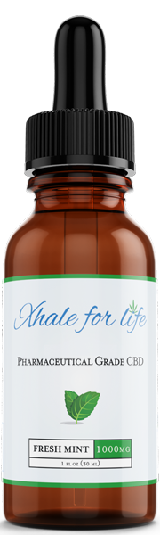 Xhale For Life  1000MG CBD Fresh Mint Flavor