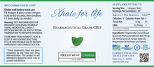 Load image into Gallery viewer, Xhale For Life  1000MG CBD Fresh Mint Flavor
