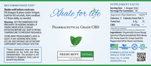 Load image into Gallery viewer, Xhale For Life  500MG CBD Fresh Mint Flavor