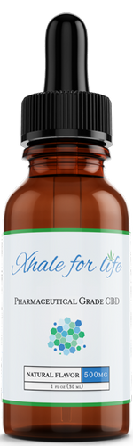 Xhale For Life  500MG CBD Natural Flavor