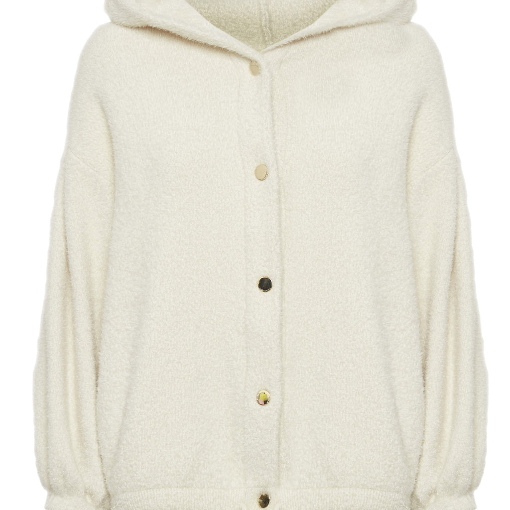 Gold Button Hooded Cardi