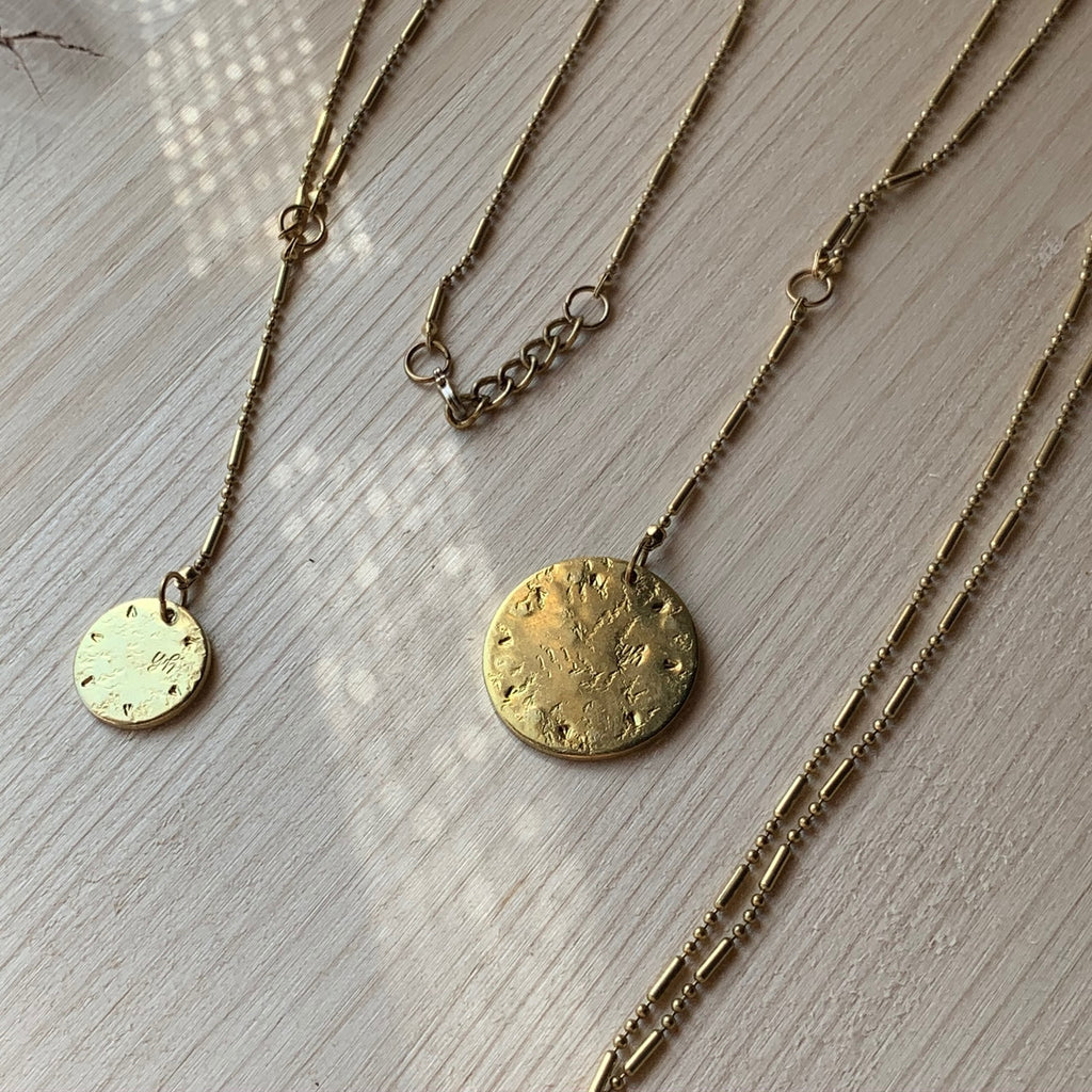 Small Coin Y Necklace