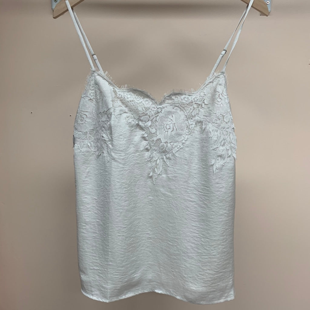 Abstract Lace Cami - Cream