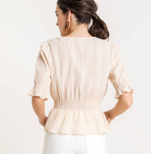 Swept Away Top - Ivory