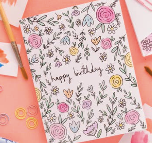 Summer Flowers Birthday Card