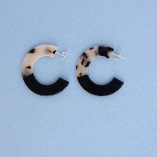 Two-tone Hoops - Black