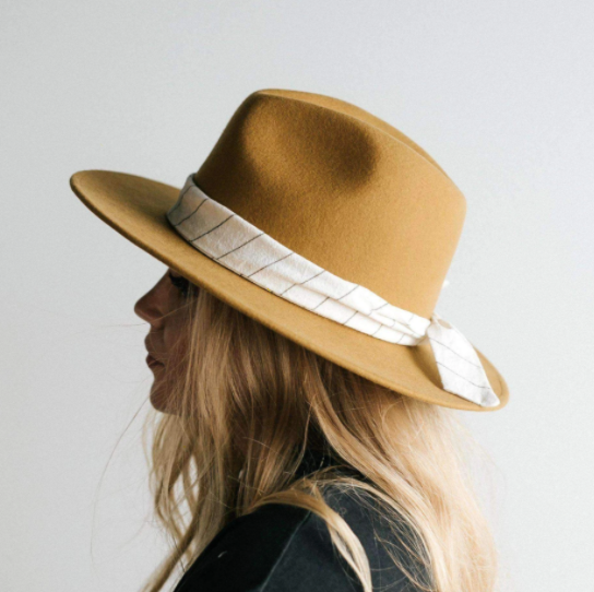 Striped Linen Hat Band