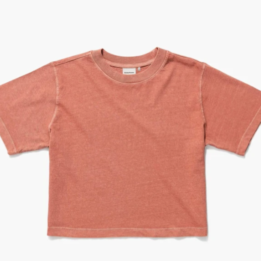 Relaxed Crop Tee - Summer Cinnamon