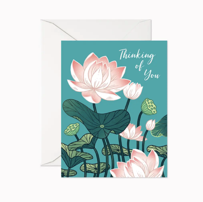 Thinking of You Pink Flower Card