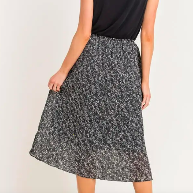 Delilah Midi Pleated Skirt