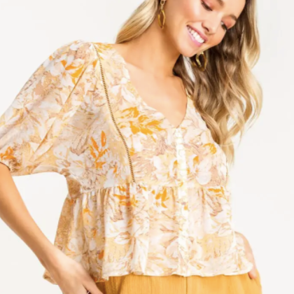 Golden Hour Babydoll Top