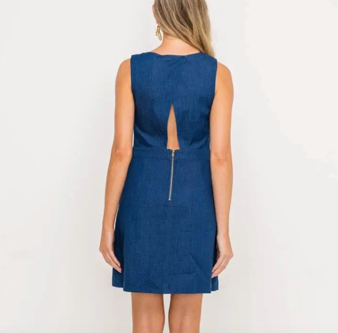 Indigo Pocket Mini Dress