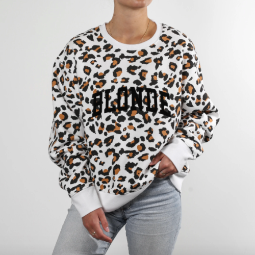White Leopard BLONDE Step Sister Crew