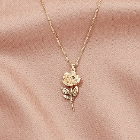 Perfect Rose Pendant Necklace