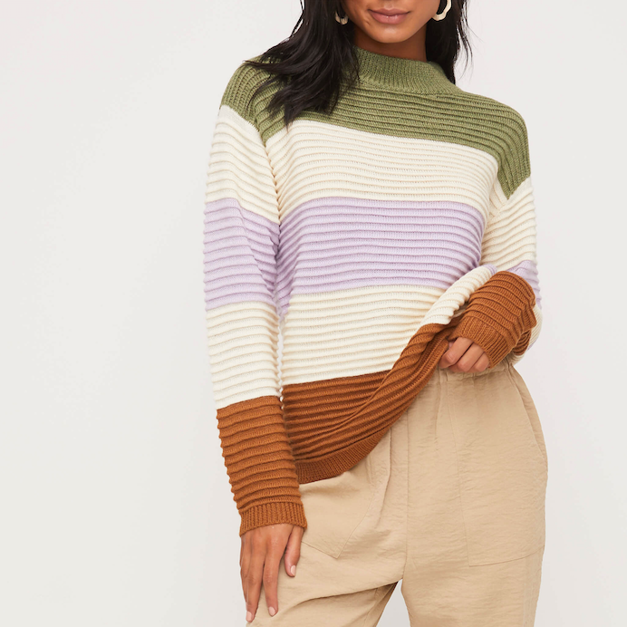 Warm Colourblock Sweater