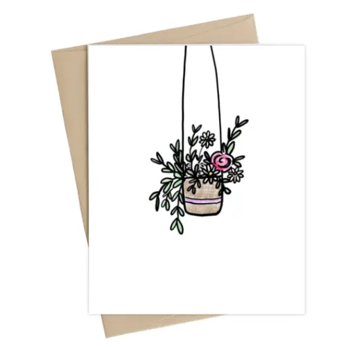 Hanging Flowers Card
