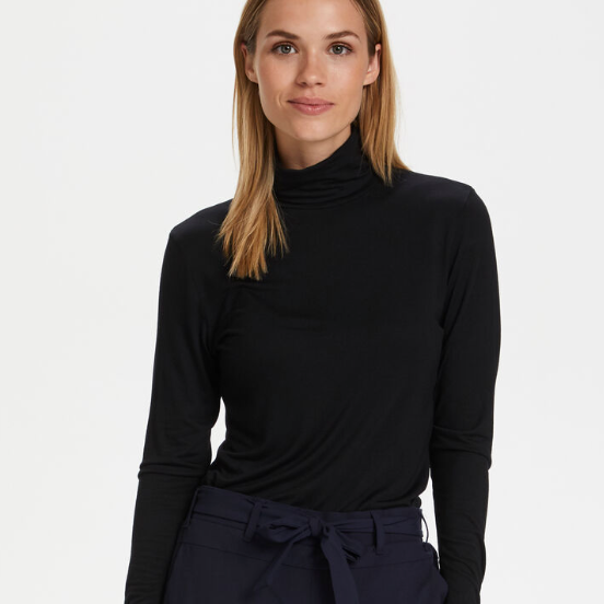 Black Basic Turtleneck