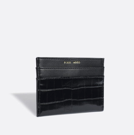 Alex Card Holder - Black Croc