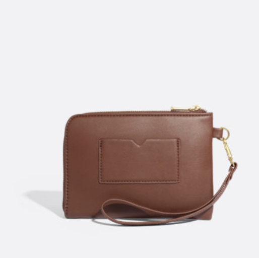Stacy Wristlet - Dark Oak/Nubuck