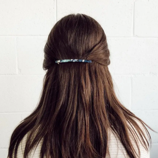 Thin Acrylic Barrette - Blue