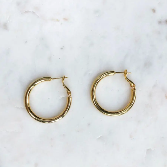 Basic Gold Hoops