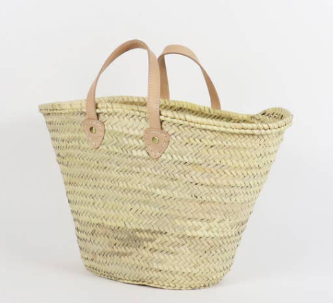 Perth Basket Bag - Large - Natural/Taupe
