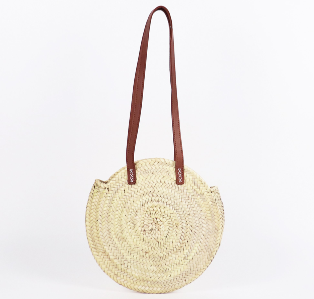 Tulum Round Straw Bag - Small