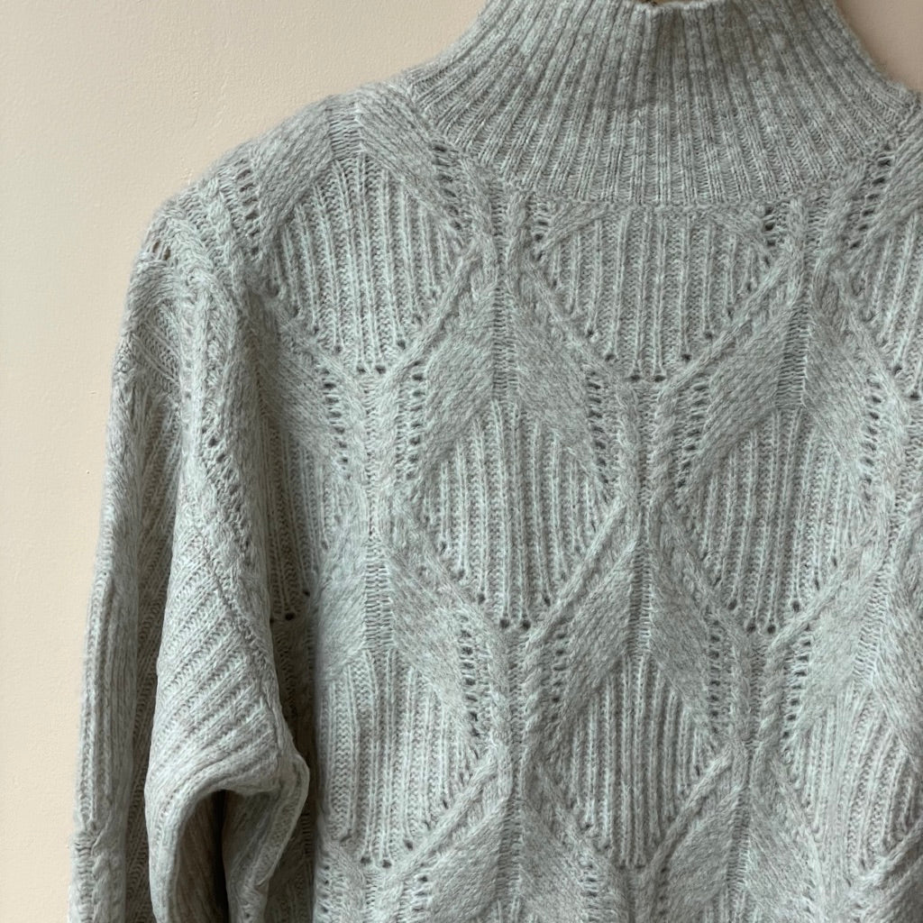 Boxy Cable Knit - Oatmeal