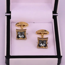 Load image into Gallery viewer, Golden engraved stylish men cufflinks