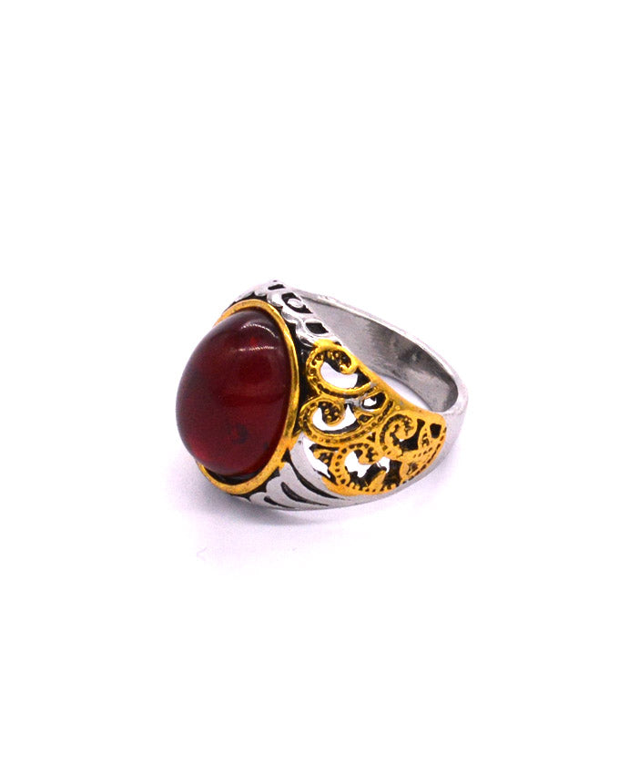 Red Stone Men's Ring