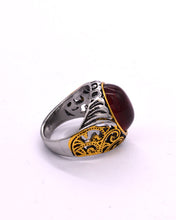 Load image into Gallery viewer, Red Stone Men's Ring
