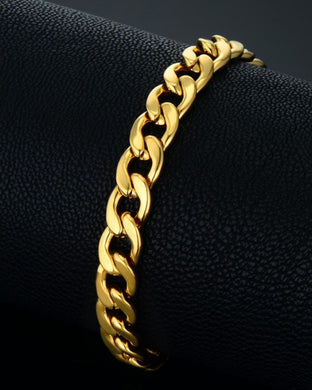 Golden Chain stainless steel bracelet for men women