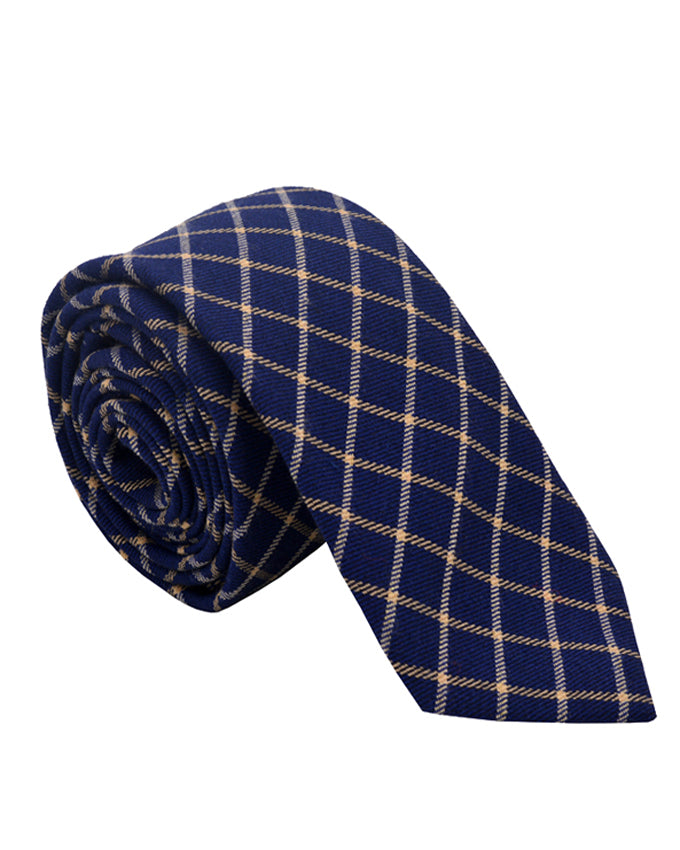 Soft Cotton Blue men's neck tie