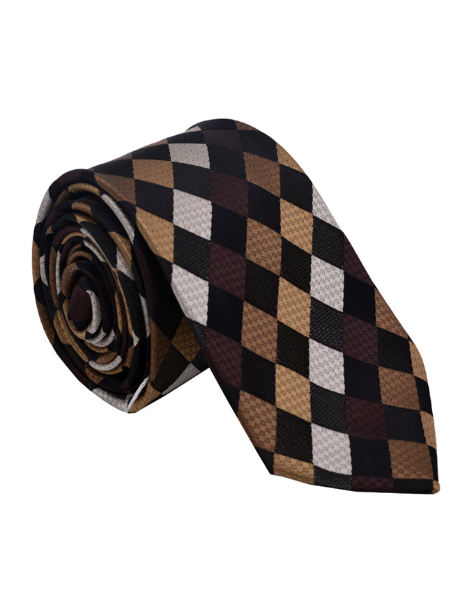 Multi texture men's necktie