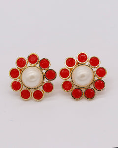women earring tops Red color