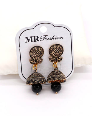 Stylish traditional jhumki Black color