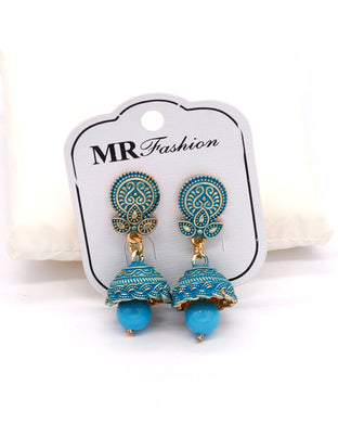 Stylish traditional jhumki Blue color