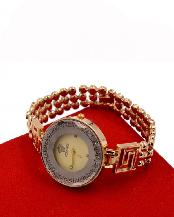 Golden chain nice women's watch