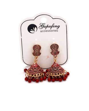 Stylish traditional jhumki maroon color