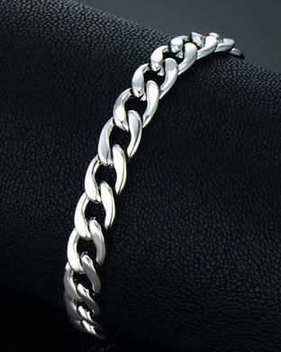Silver Chain stainless steel bracelet for men women
