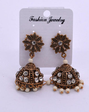 Traditional antique Indian women's Jhumki .