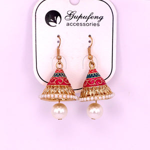 Colorfull metal stylish women earrings