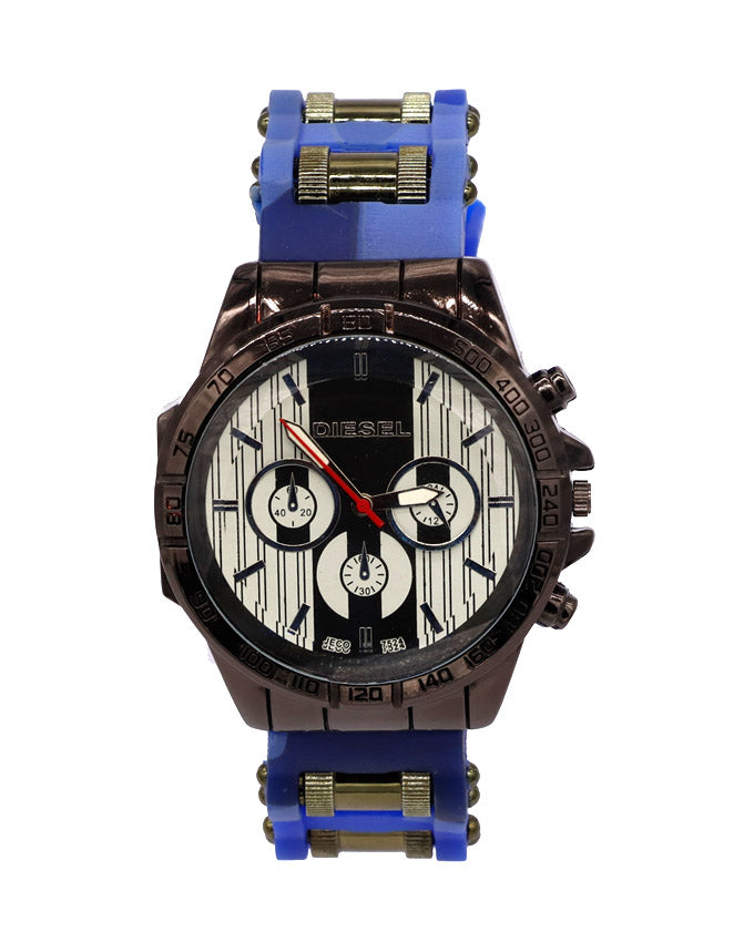 Blue commando style watch for men