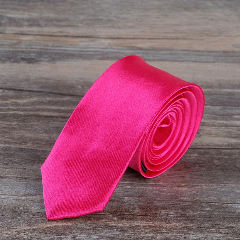 Pink solid plain men neck tie