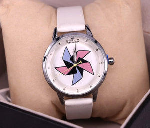 White strap and dial women's watch