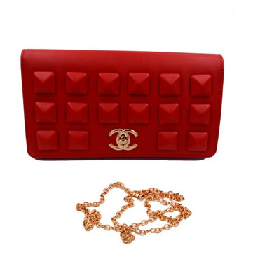 Women Fashion CHNL clutch bag in Red  color