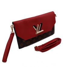 Load image into Gallery viewer, Maroon and brown LV Fashion Clutch bag