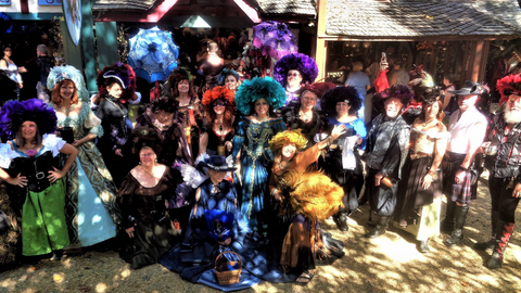 Group photo of Hat Day at the Maryland Renaissance Festival Oct 7, 2017